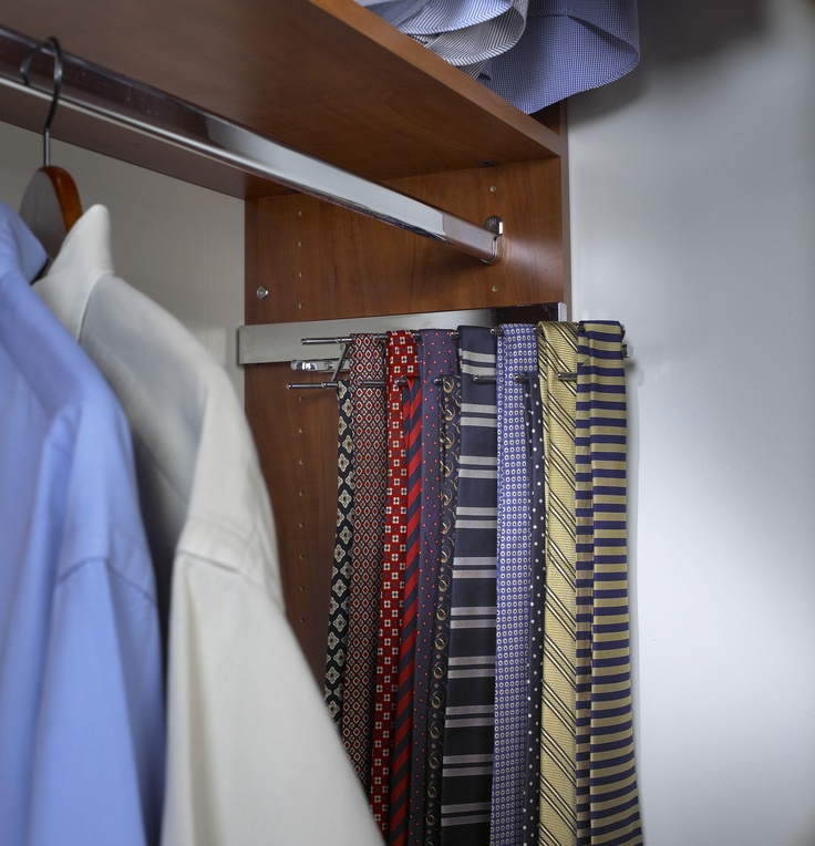 Saint Louis Closet Co. Slide Out Chrome Tie Racks Are Perfect For Any Closet