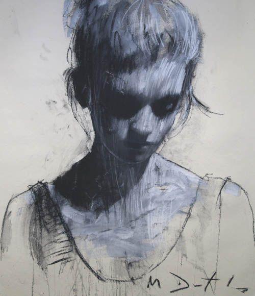 Mark Demsteader - Helen Head Study II Pastel & Collage