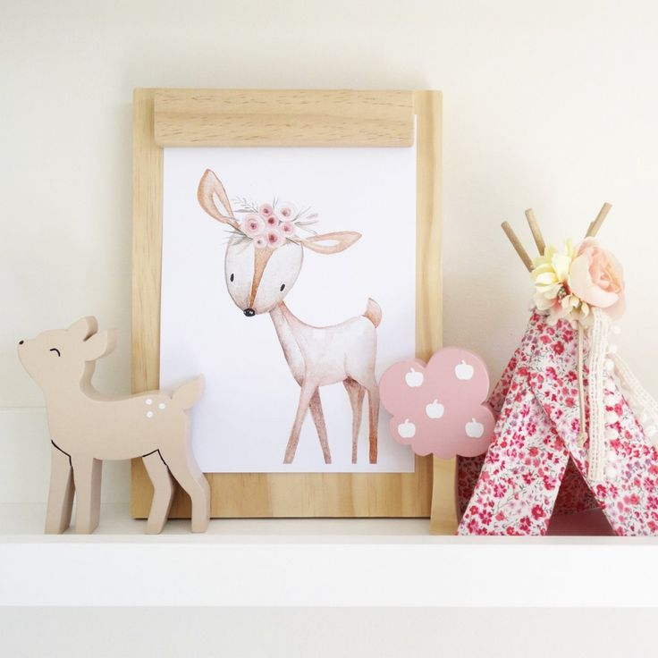 Woodland Deer Shelf Decor Figure