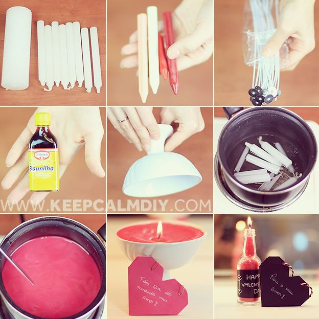 DIY: Como fazer velas perfumadas e coloridas | Presente baratinho e bonito para o Dia dos Namorados
