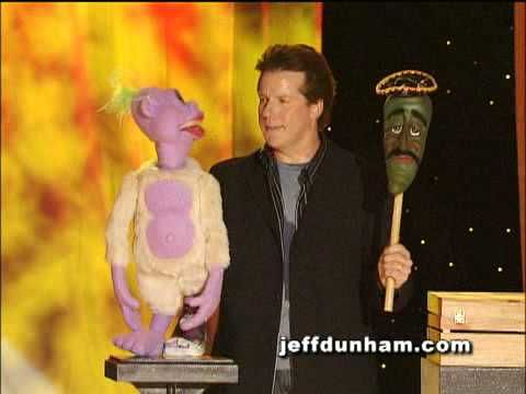 "A clip of Jeff Dunham, Peanut & Jose Jalapeno...on a steeeek! From Jeff's classic stand-up special and DVD, ""Arguing with Myself""."