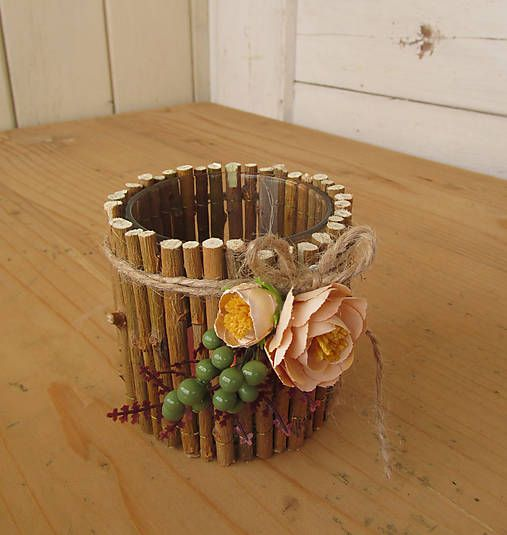 Jarná dekorácia - svietnik / artina - SAShE.sk - Handmade Svietidlá a sviečky