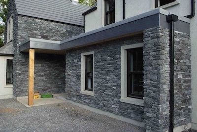 Eazyclad Clusterstone stone cladding on front of house