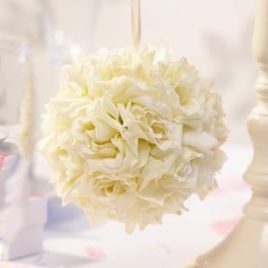 Cream Rose Pomander