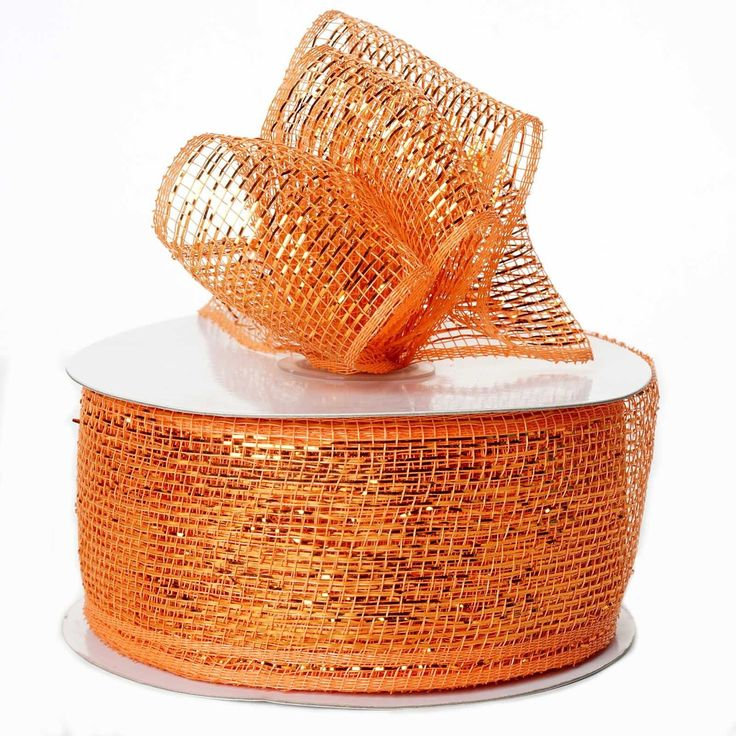"25 Yards 2.5"" DIY Orange Sparkling Mesh Ribbons Wedding Party Dress Favor Gift Craft 