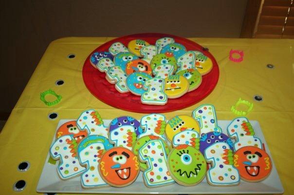 Little boy's 1st Birthday/Monster Theme; Cheri's Bakery Wichita, KS