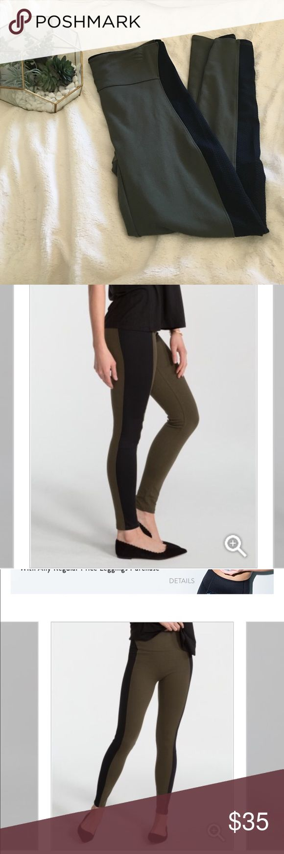 Spanx textured panel leggings Beautiful and versatile textured panel leggings by SPANX. Like new! Holds your belly in and are super flattering. Smoke free home; no rips, no tears and no stains SPANX Pants Leggings