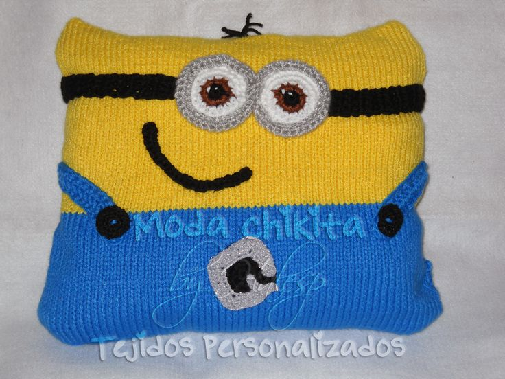 Cojin tejido a dos agujas y detalles en crochet | Pedido especial ...
