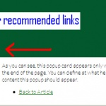 End of content sliding box for recommended articles with jQuery and CSS
