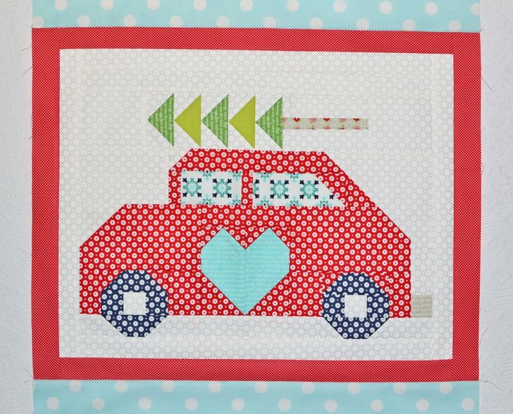 Snapshots Month 10 Car Paper Piecing And Christmas