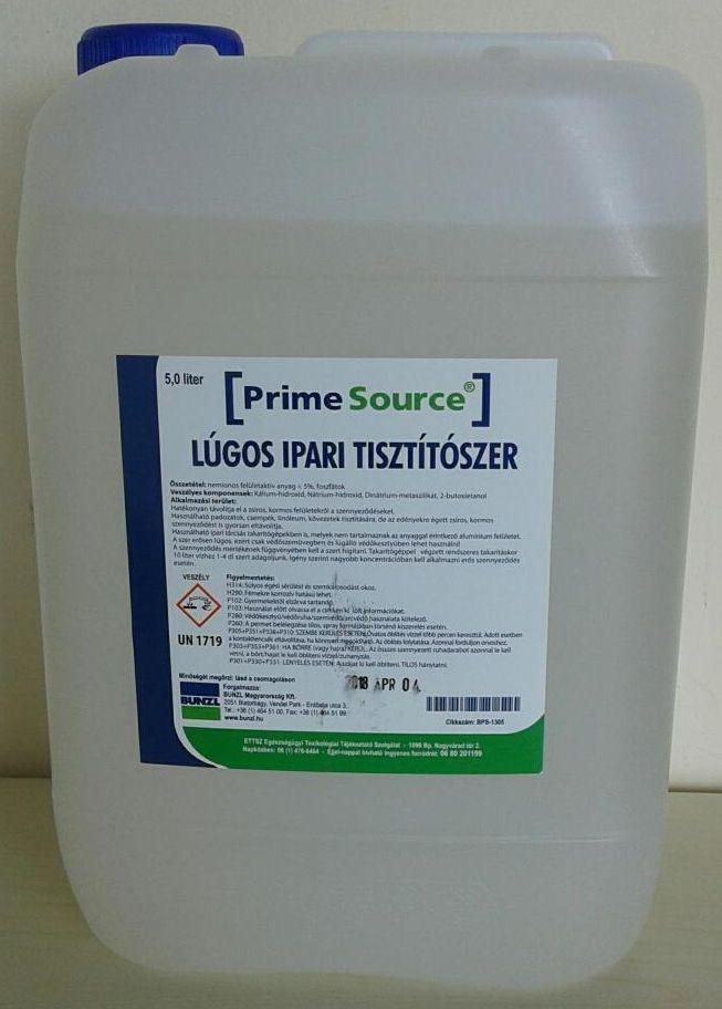 Prime Source detergent alcalin industrial 5l: BPS-1305 curata suprafetele uleioase sau murdare de funingine.