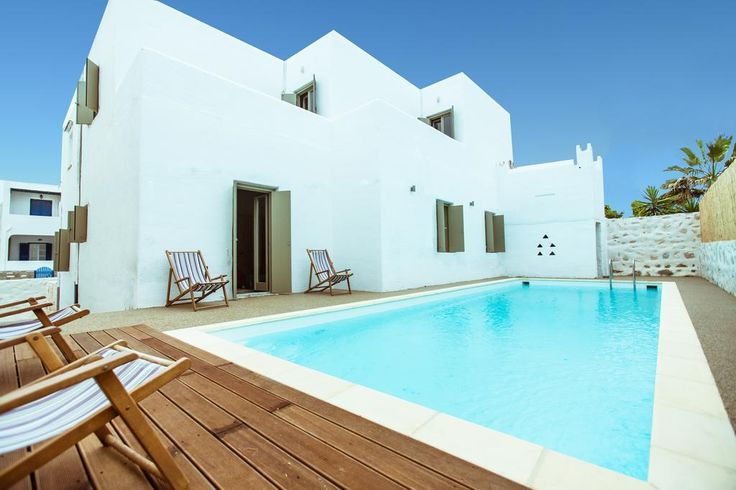 Featuring a private swimming pool with a sun terrace, the white-washed Harmony Villa Paros in NAousa Town offers pool and Aegean Sea views from its terrace and patio.
