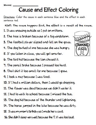 Cause and Effect - Handouts from Mrs Jacobs Class on TeachersNotebook.com (16 pages)