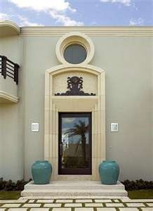 Front Door Of Renovated Art Deco Palm Beach House By Tim Button
