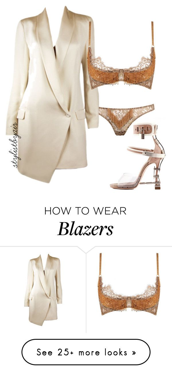 """Untitled #3855"" by stylistbyair on Polyvore featuring Dsquared2, Agent Provocateur and Haute Hippie"