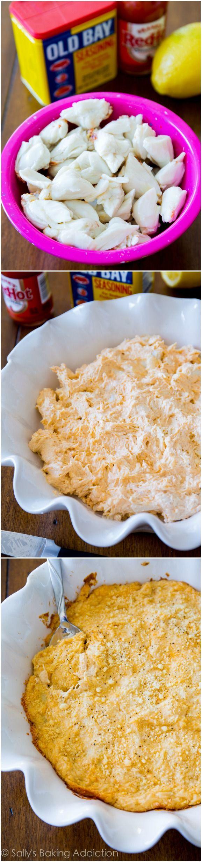 Homemade Cheesy Crab Dip by @sallybakeblog
