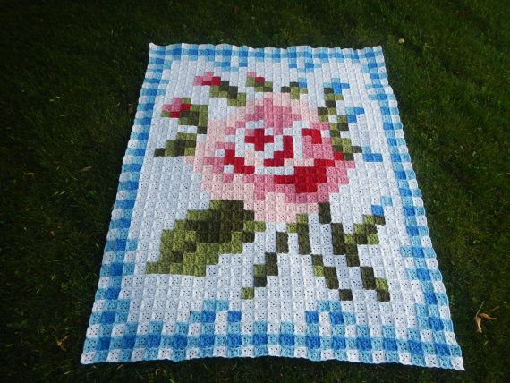 La Vie en Rose Afghan Crochet Pattern
