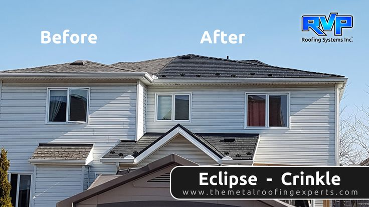 What a difference the Eclipse Crinkle made to this home! Installations by RVP Roofing add a fresh clean look, as well as lifetime protection.  To see more, visit us at www.rvp-roofing.com. Don't forget to like and pin! #RVP #highstrengthsteel #permanentroof #armadura #EclipseCrinkle