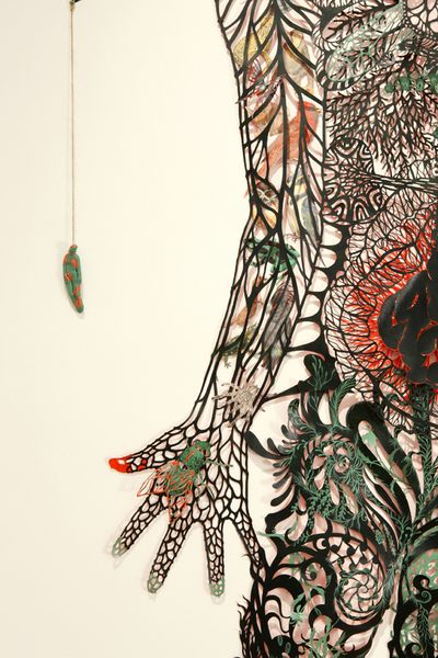 Close up .... Hand cut paper artworks by Kako Ueda