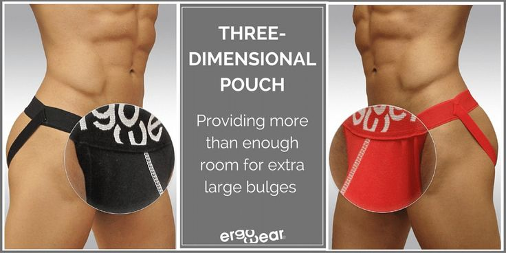 Three-dimensional pouch, providing more than enough room for extra large bulges