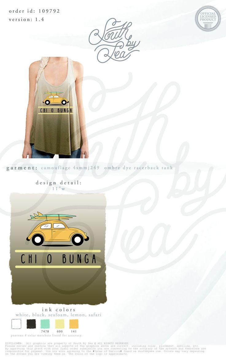 T shirt design quad cities - Chi Omega Chi O Chi O Bunga Chi Omega Volkswagen Beetle T