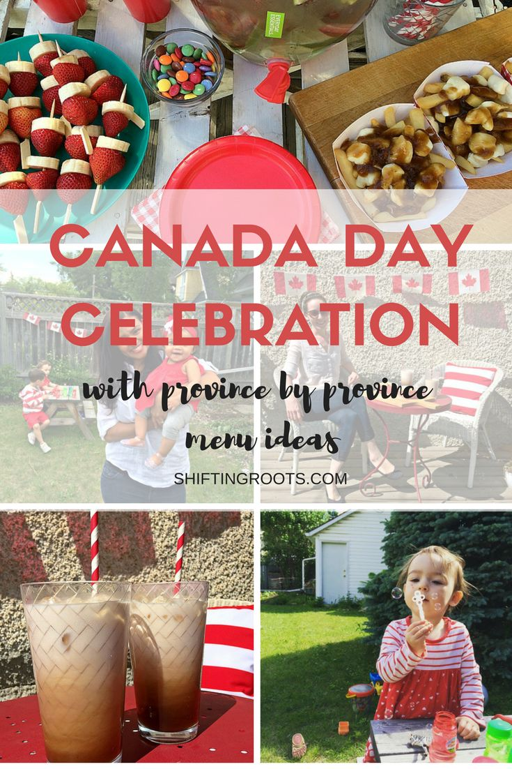 Canada Day Celebration with Province by Province Menu Ideas