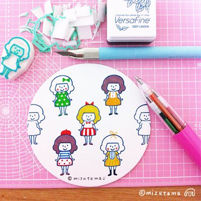 mizutama - rubber stamp maker from japan.It seems i've found my new hobby hehe ;P                                                                                                                                                                                 もっと見る