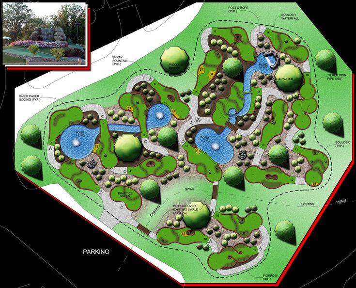 layout miniature golf course design pinterest