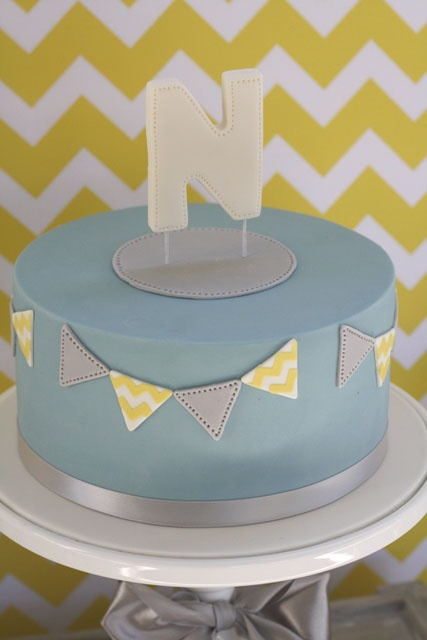 Bunting cake :: baby shower::  by couture cupcakes and cookies