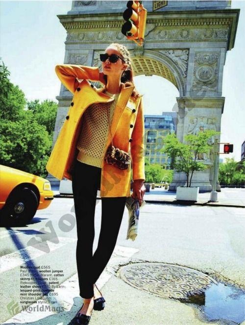 """""""Got Your Coat?""""Glamour UK, November 2011Model: Esme Wissels"""