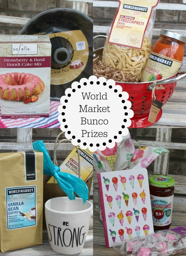 World Market Bunco Prizes #worldmarkettribe