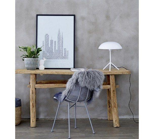 Bloomingville - Bordlampe - Hvid - lampe - belysning - stueindretning - kontor - soveværelse