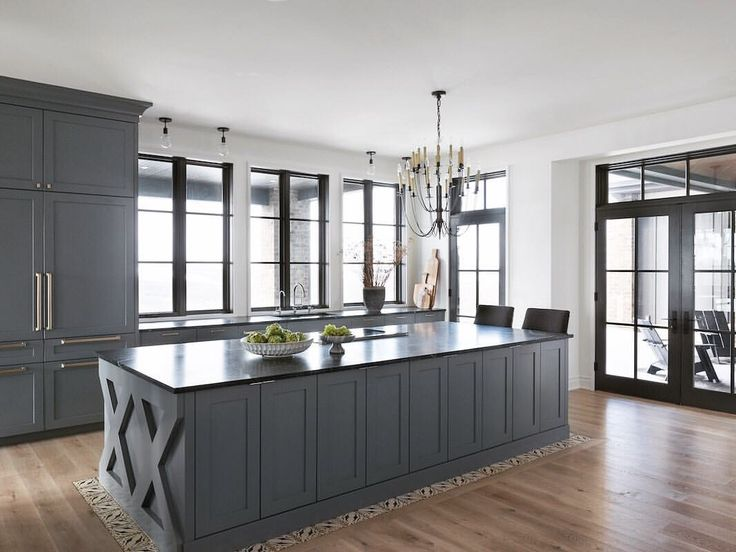 Best Whale Grey Benjamin Moore Kitchen Over On Their 400 x 300