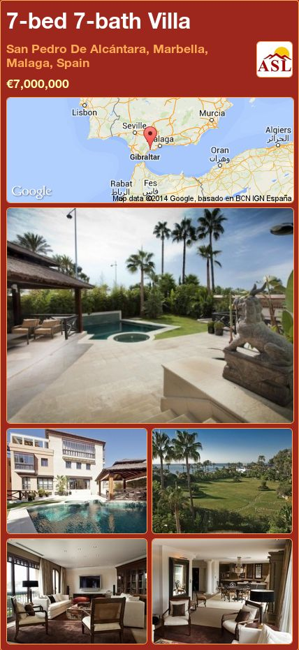 7-bed 7-bath Villa in San Pedro De Alcántara, Marbella, Malaga, Spain ►€7,000,000 #PropertyForSaleInSpain