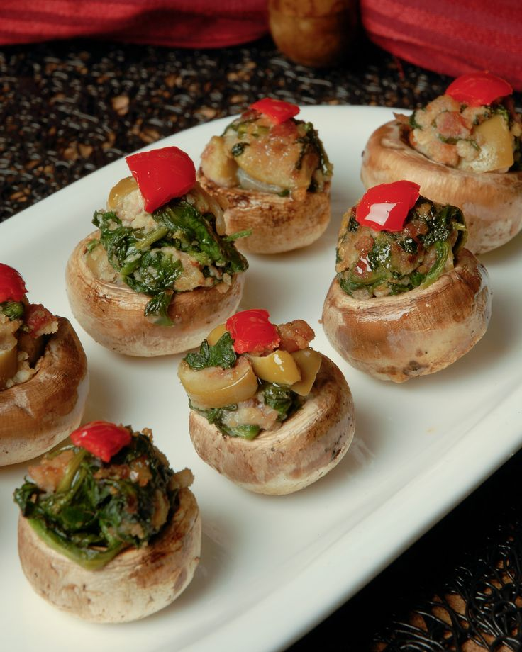 #12DaysOfHolidayHosting Day 10: STUFFED MUSHROOMS - These stuffed mushrooms with a delicious Castella twist make the perfect  hor douevre for your next dinner party!
