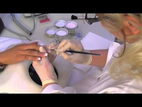Acrylic nail modeling instructions for acrylic nails | nded.com - YouTube