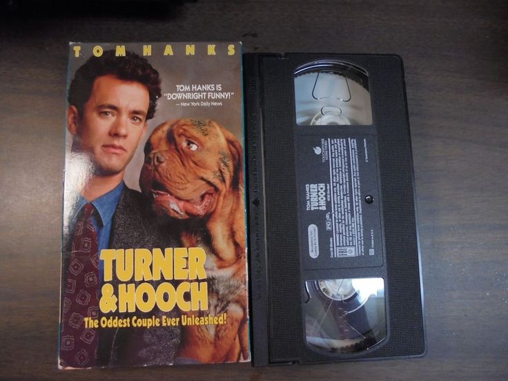 "USED VHS Movie ""Turner & Hooch""  24"