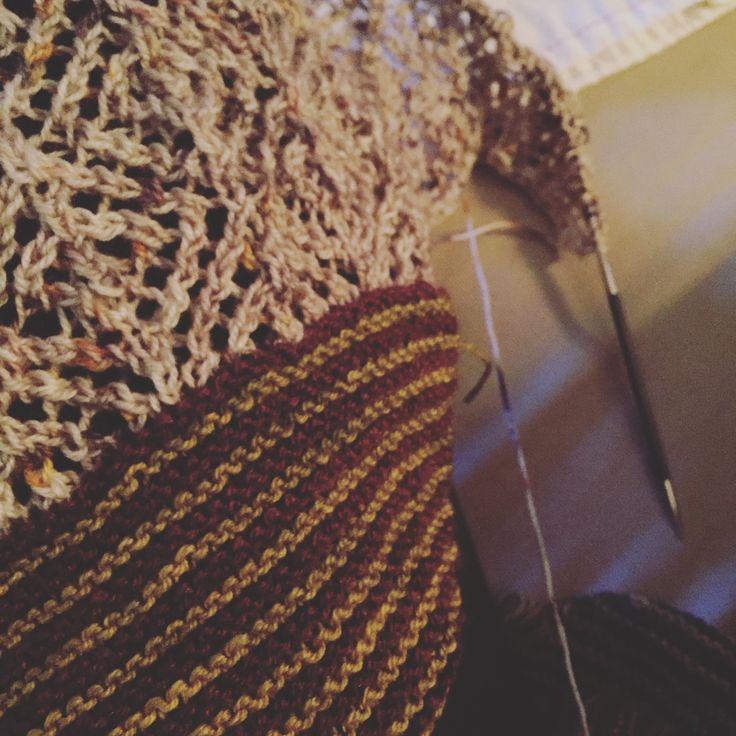 Châle Lilli Pilli , laine mérinos/soie #lainejulieasselin