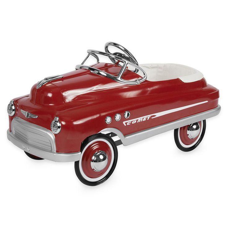 Every kid wants a convertible. Let them pedal their heart out in this beautiful burgundy comet pedal car by Airflow Collectibles. A great way to exercise and have fun at the same time. Give your child a gift they will remember forever.