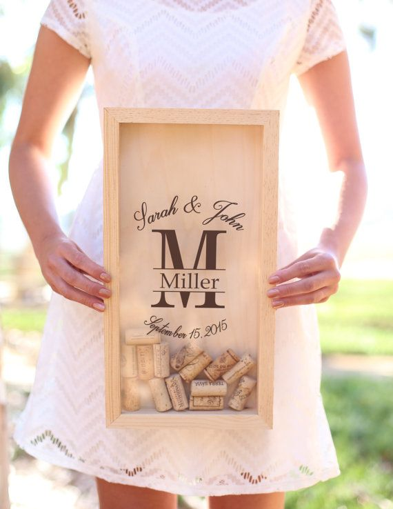 Personalized Wine Cork Keeper Custom Wedding Gift by braggingbags