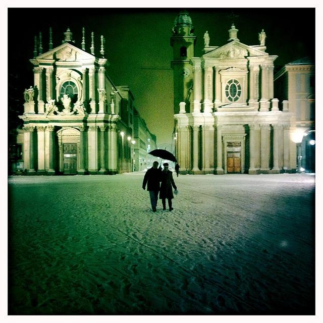 love under snow #Torino #neve, Turin, , province of Turino , Piemonte region Italy