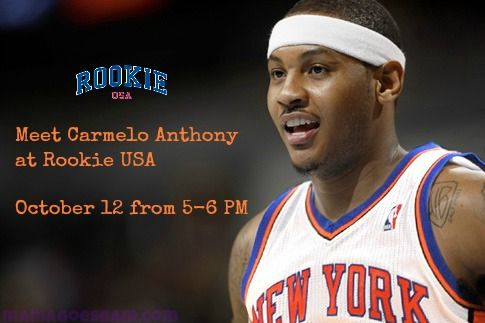 New York Knicks Carmelo Anthony to Appear at Rookie USA Grand Opening