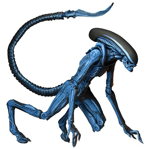 """This Dog Alien action figure from NECA continues their line of video game tributes. It's 10"""" tall on a 7"""" scale and features over 30 points of articulation. It has a two-tone paint job that's blue on one side and brown on the other."""