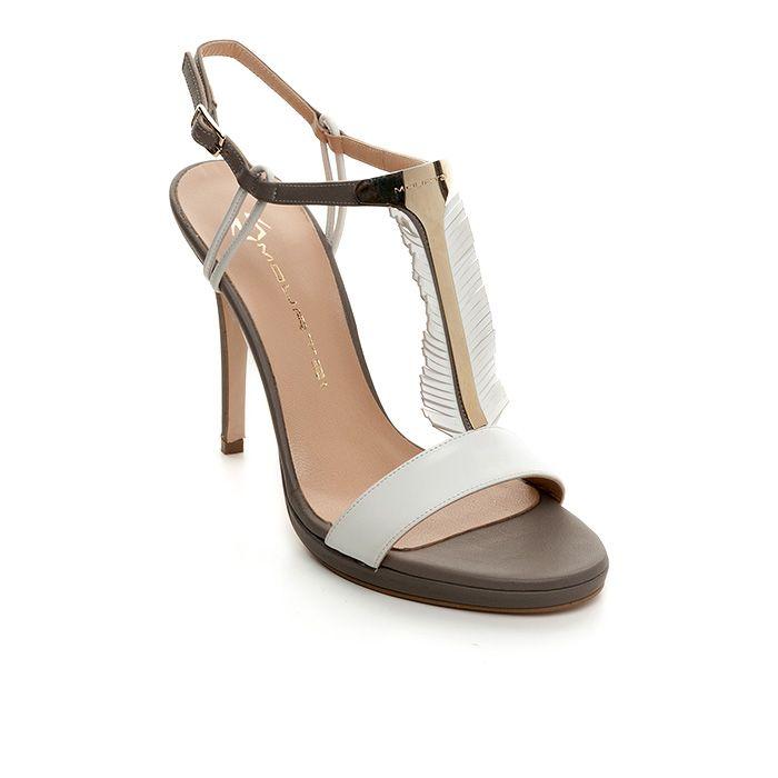 1008B21_WHITE LEATHER www.mourtzi.com #mourtzi #sandals #wearwhite #feathers #shoes #shadesofgrey