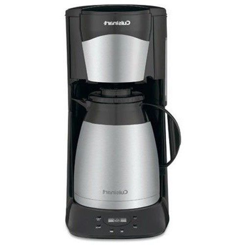 Coffe Maker Thermal Home Coffee Brewer Black Stainless Steel Double Wall Carafe  #CoffeMakerThermal