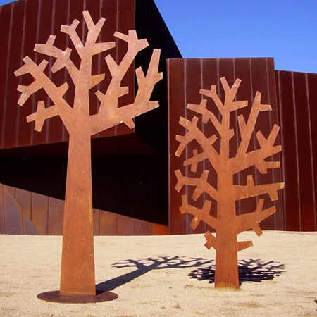 Peter Mclisky Tree sculptures, stocked by Tait Outdoor