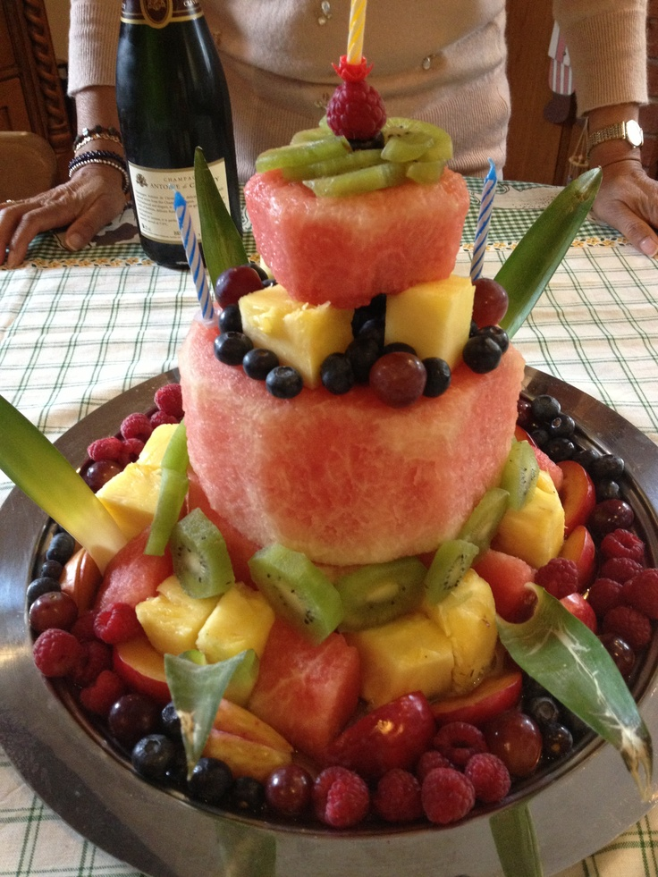 fruit birthday cake - awesome idea for the dessert table