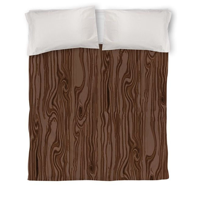 Thumbprintz Wood Grain Scale Brown Duvet Cover