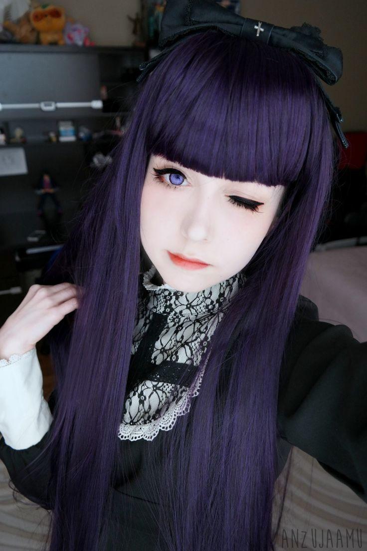"anzujaamu: ""Gothic inspired! You can read my review here for the wig&lens links~! """