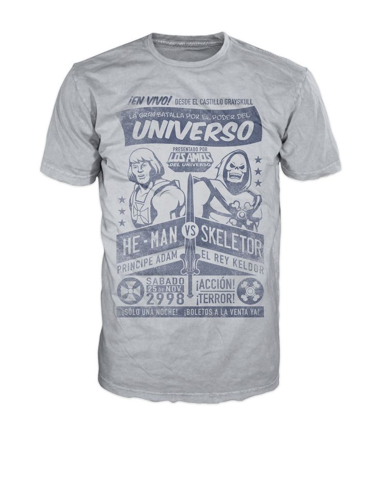 He-Man vs. Skeletor Moto Lucha T-Shirt – Flophouse